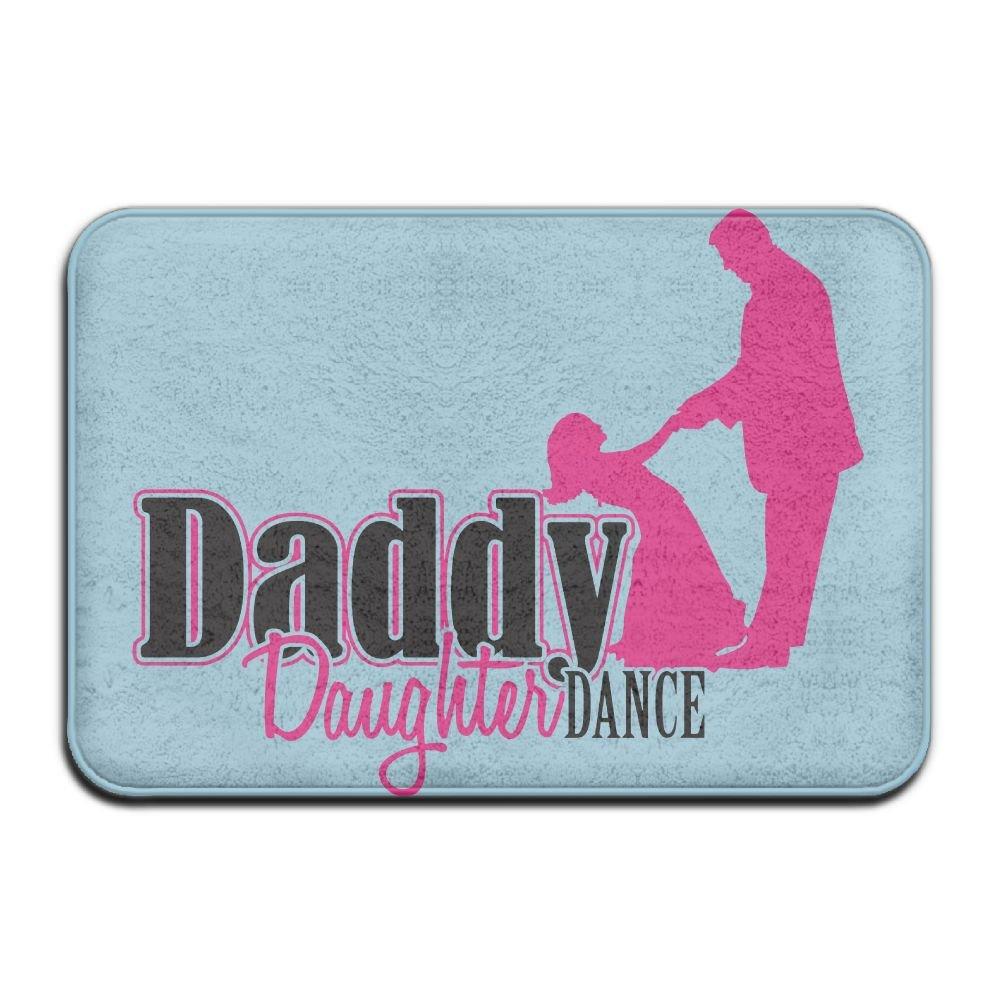 Hongclever Door Floor Mat Rug Anti-Skid Foot Pad Daddy Daughter Dance Water Absorption Doormats For Home Bathroom