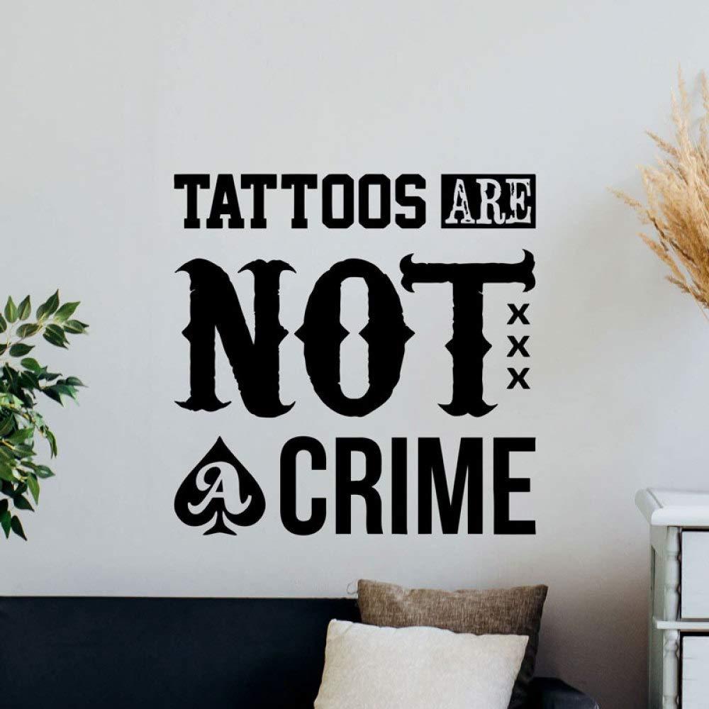 Tatuaje no es un crimen Tatuajes de pared Cita Tienda de tatuajes ...