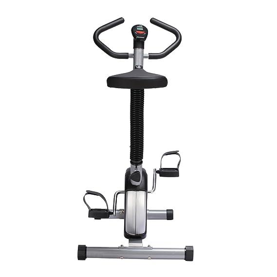 Bicicleta Estatica de Spinning Fitness Altura Ajustable Pantalla Peso MAX 100kg (Negro): Amazon.es: Deportes y aire libre