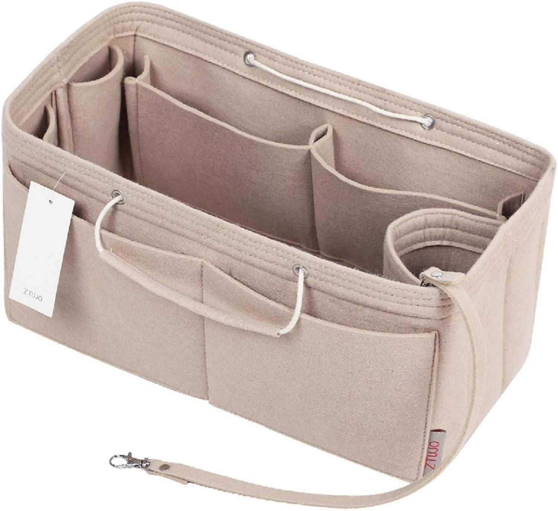 Purse Organizer, Multi-Pocket Felt Handbag Organizer, Purse Insert Organizer with Handles, Medium, Large