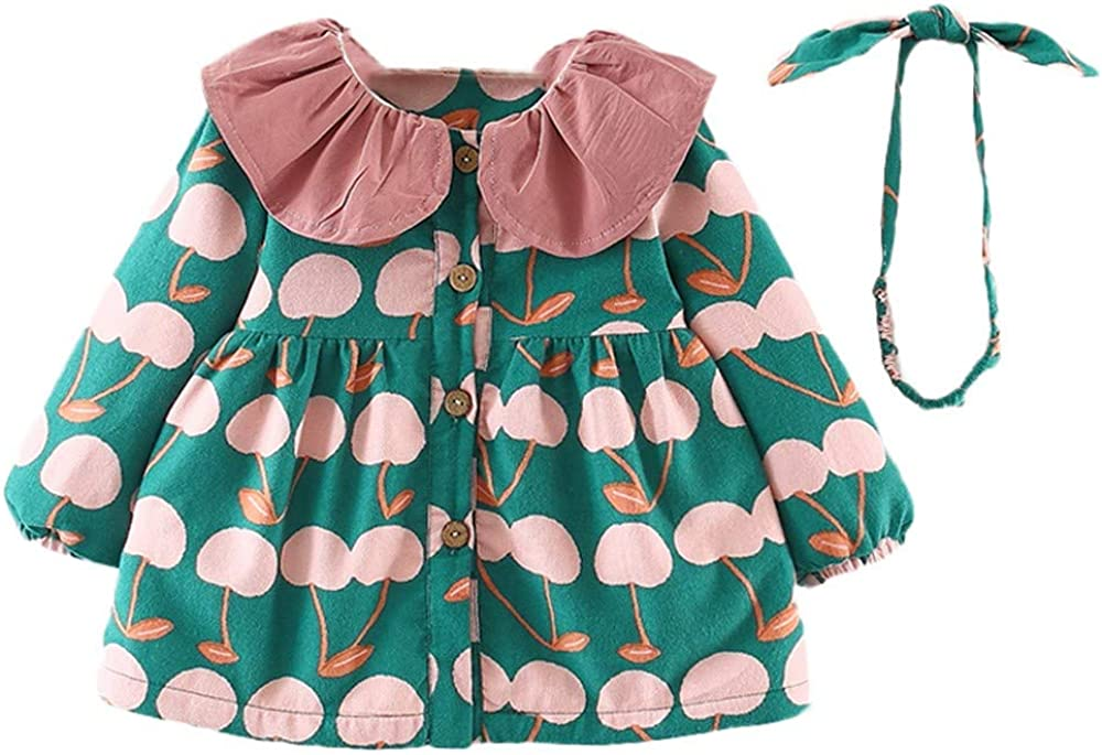Kehen Infant Baby Toddler Girl Spring Autumn Clothes Fashion Print Jacket Party Outerwear Clothes