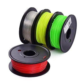 Entweg Filamento de impresora 3D, carrete de 1 kg, 1,75 mm ...