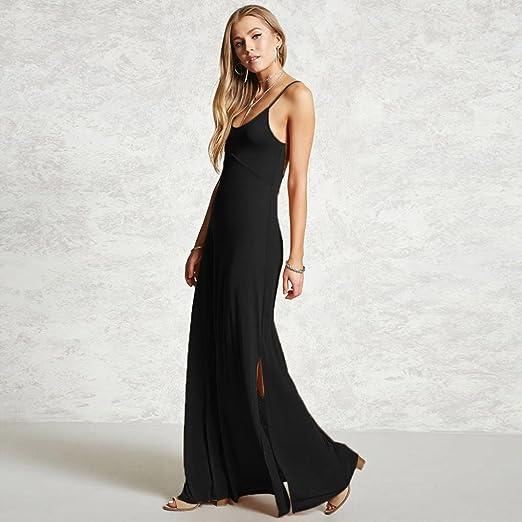 DAYLIN Women Large Size Casual Cute Sleeveless V Neck Solid Evening Dress: Amazon.co.uk: Clothing