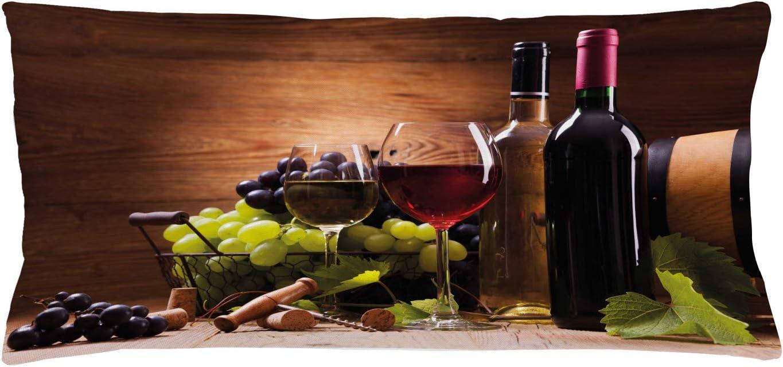 ABAKUHAUS Vino Funda para Almohada, Copas de Vino Tinto y ...