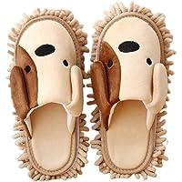 TOPBATHY 1 Pair Microfiber Slipper Mop Shoes Detachable Reusable for Bathroom House Office Kitchen Floor Dust Dirt Hair Cleaning Tool