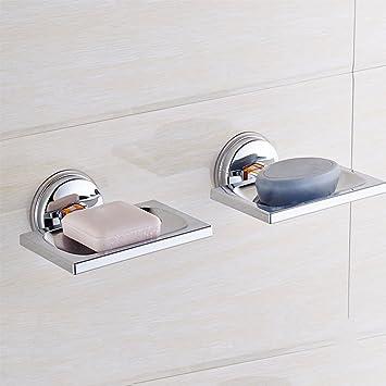 bf0795b5d No perforada sucker tipo Jabón Box vacío baño bloqueo conjunto especial de  2  Amazon.es  Hogar