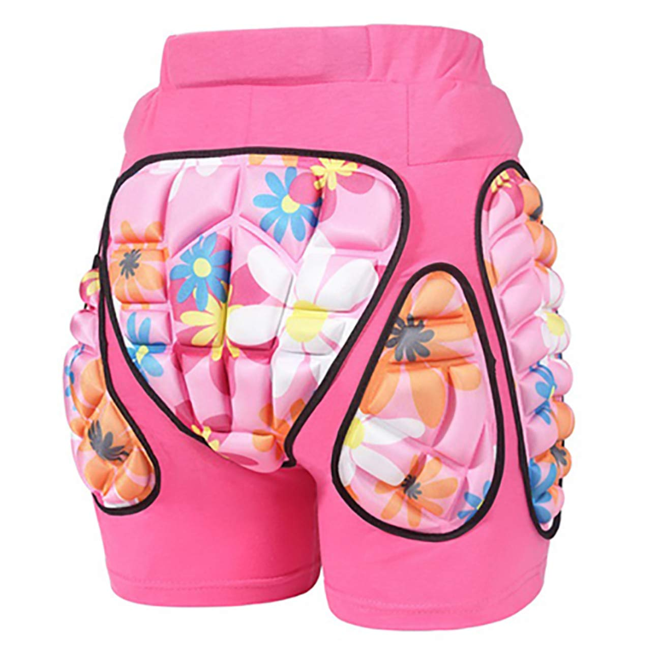 JMsDream 3D Padded Protection Hip EVA Short Pants Protective Gear for Kids & Adults Skating Riding Roller