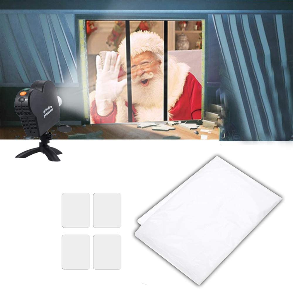 1,2m Projektorbildschirm Faltbares Display-Tuch f/ür den Weihnachts Halloween Film Roeam Leinwand Beamer 1,8