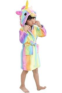 Kids Unicorn Robe Animal Hooded Plush Robe for Girls Boys f842406e2