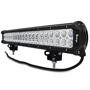 Safego 126W CREE製 LED 作業灯 LED ワークライト 高輝度 42連LED 広角 狭角 兼用 一体型 車外灯 農業機械 12V 24V兼用 ホワイト 6000K