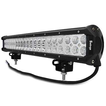 Amazon safego 20 inch 126w led light bar combo offroad for safego 20quot inch 126w led light bar combo offroad for trucks atv 4x4 tractor jeep aloadofball Choice Image