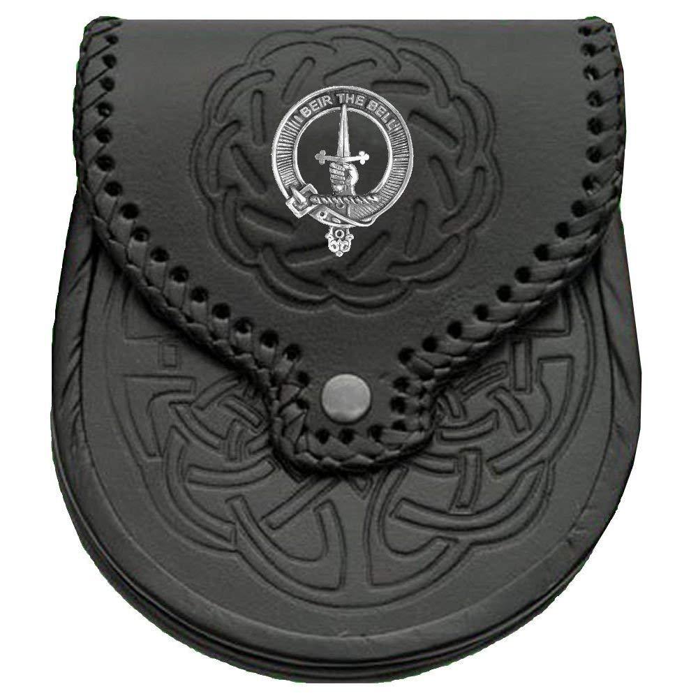 Bell Scottish Clan Crest Badge Sporran