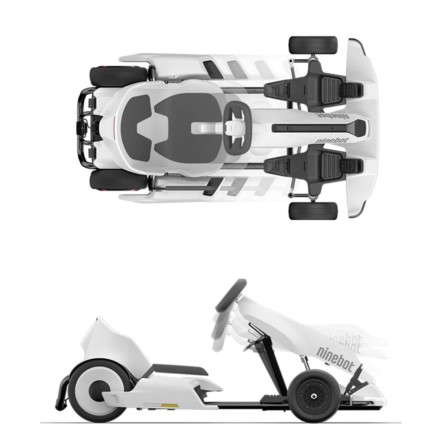 Ninebot Electric GoKart Kit for Segway miniPRO Ninebot S (Self Balancing  Scooter Excluded), 12 4 Miles Range, 15 MPH Top Speed, Mobile App Control,