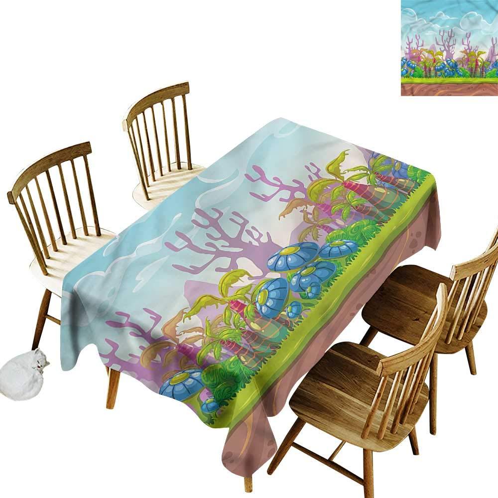 こぼれ防止テーブルカバー カートゥーン フェアリーテール お城 ダイニング用素敵なテーブルカバー 50