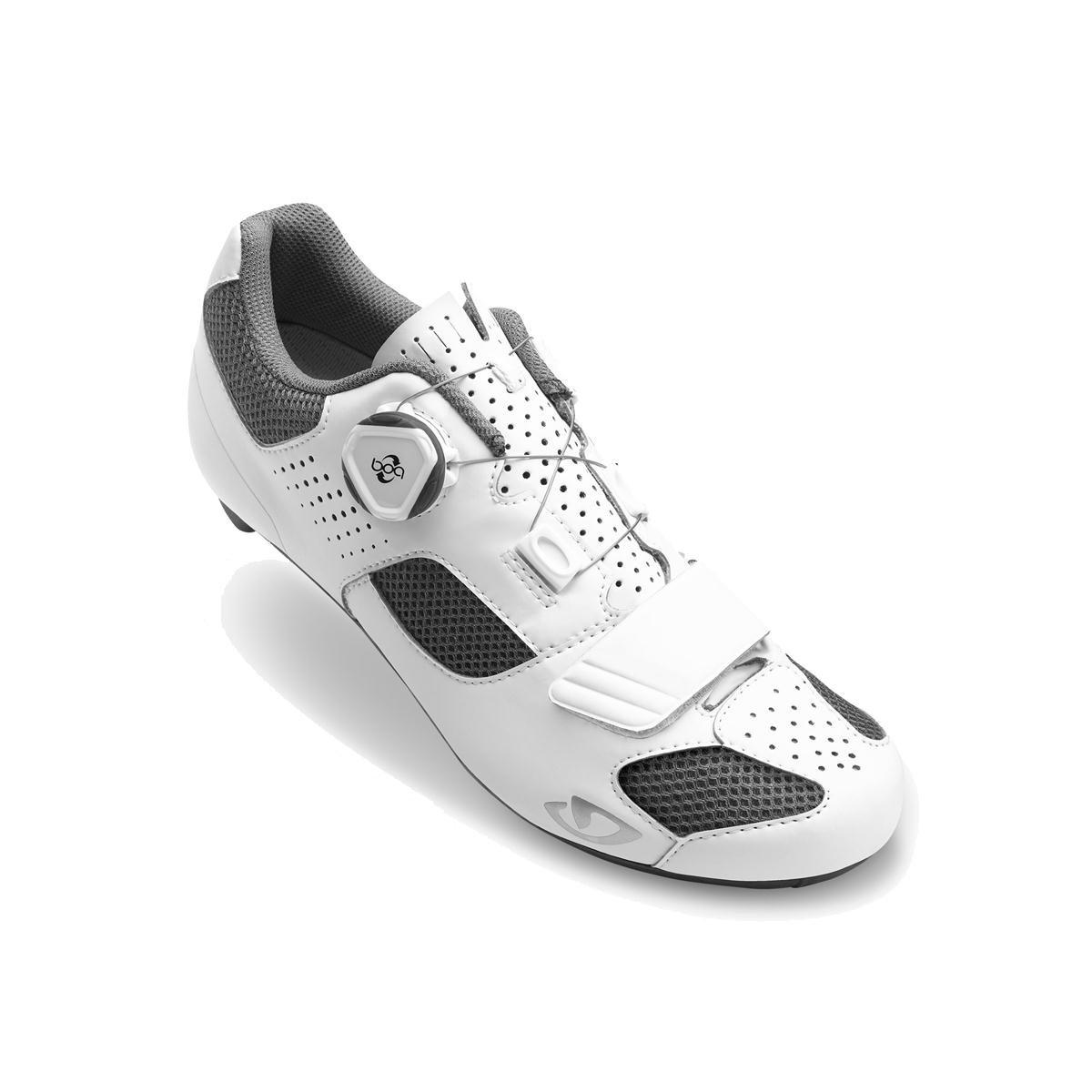 Giro Espada Boaサイクリング靴 – Women 's B075RNM62V 40.5 M EU|ホワイト/シルバー ホワイト/シルバー 40.5 M EU