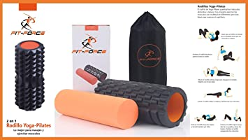FIT-FORCE Rodillo Yoga-Pilates: Amazon.es: Deportes y aire ...