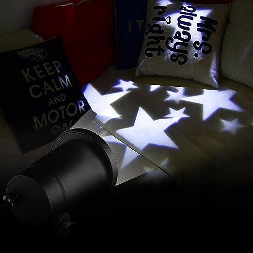 Lucky Goddess Proyector estrellas cálida luz blanca/blanca de copo ...