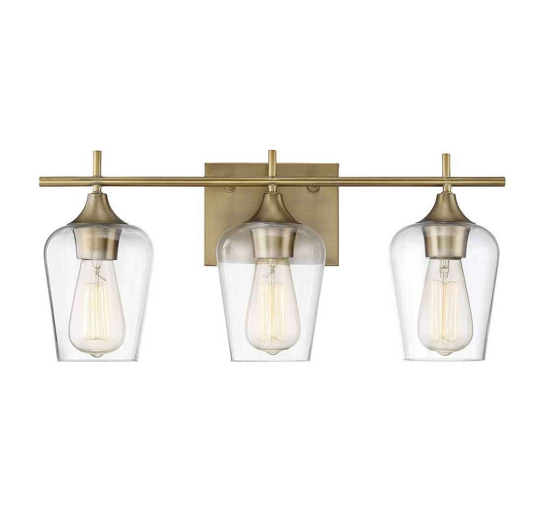 Savoy House Octave 3 Light Bath Bar 8-4030-3-322 in Warm Brass by Savoy House