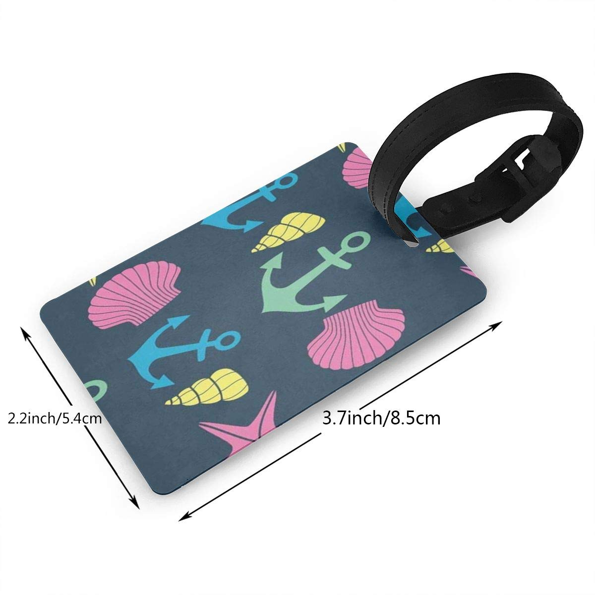 Luggage Tags Coral Reef Shark Underwater Bag Tag for Travel 2 PCS