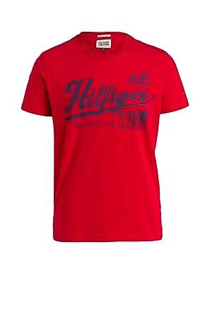 Tommy Hilfiger Denim Mens Federer New York 85 T Shirt Orange
