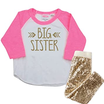 29ebd4a75 Image Unavailable. Image not available for. Color: Big Sister Outfit ...