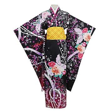 LJLis Traje De Criada Tradicional Japonesa Kimono Diseño De Flores ...