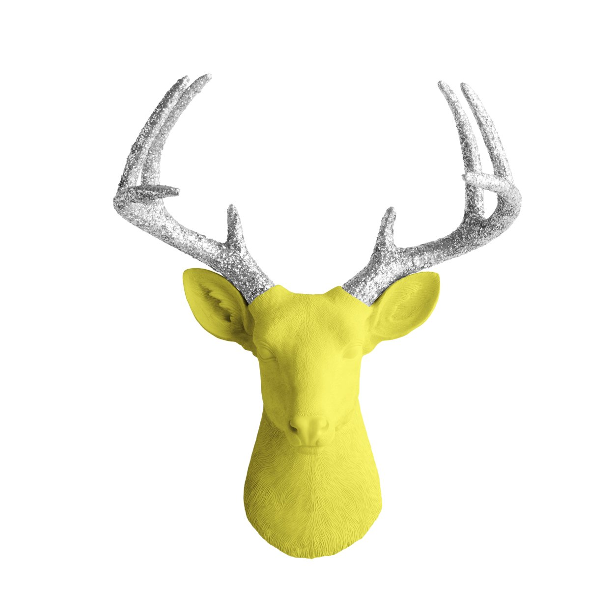 Amazon.com: Wall Charmers Deer in Yellow + Silver Glitter - Faux ...