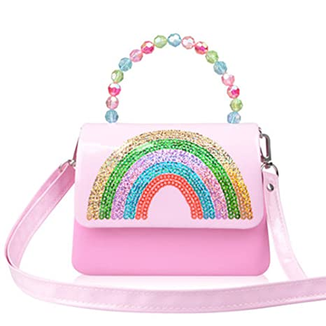 ffc8369d3f Amazon.com: Girls Purses, Little Girl Handbag Rainbow Messager Bag ...