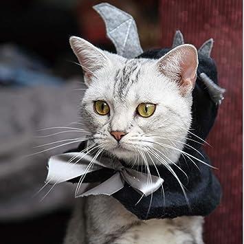 Mascota Víspera De Todos Los Santos Murciélago Encapuchado Capa Gato Perro Linda Alas Sombrero Cosplay Headwear Disfraz Accesorios para Gatos/Kitty / Puppy.