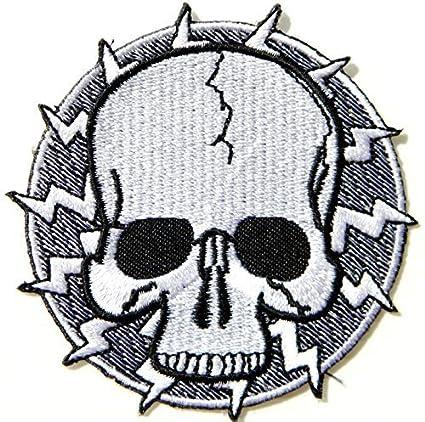 30fec00a1c8 Amazon.com  Master Skull Ghost Devil Rockabilly Old School MC Logo biker Hog  Outlaw motorcycle leather jackets custom patches