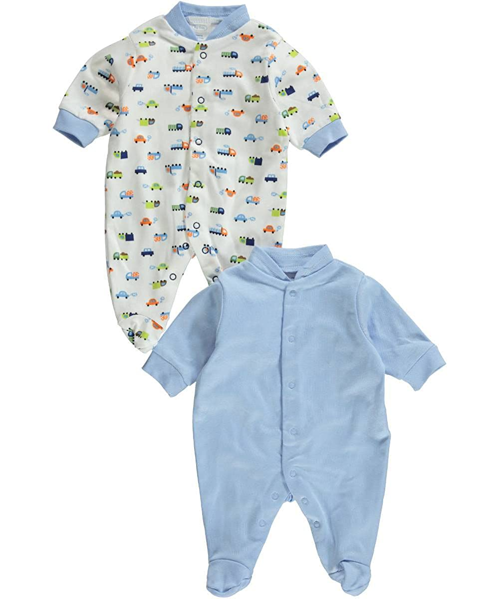 Big Oshi Baby Boys'Cars Go 2-Pack Sleep Suits
