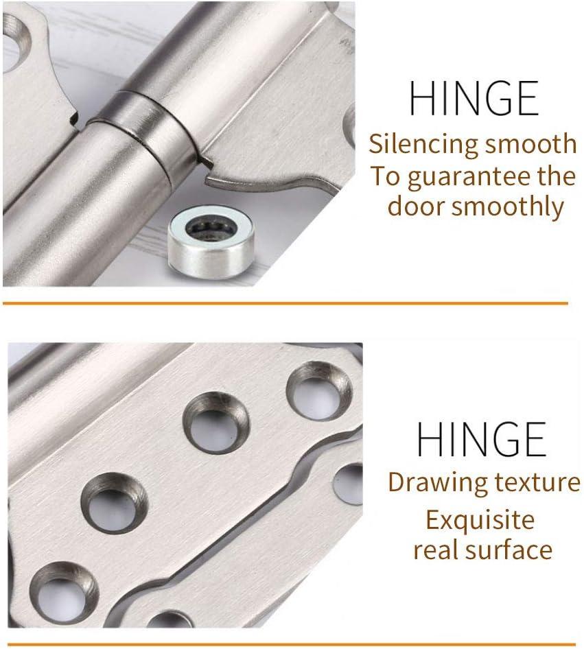 2 100 mm Paire de charni/ères de porte en acier inoxydable avec roulement /à billes pour portes int/érieures