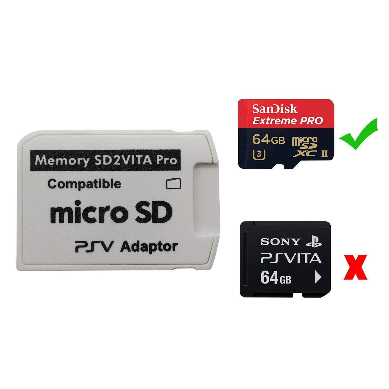 Adaptador de Tarjeta de Memoria SD2Vita 5.0, iKNOWTECH PS Vita PSVSD Micro SD Adaptador PSV 1000/2000 PSTV FW 3.60 HENkaku Enso System