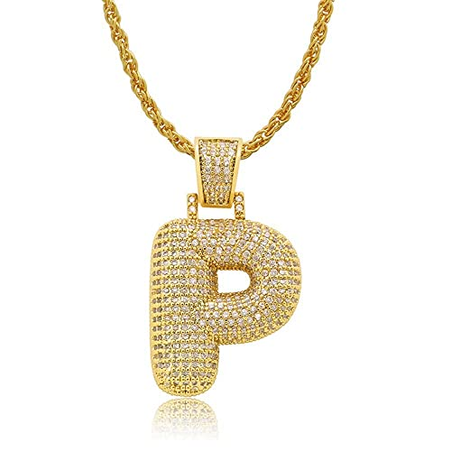 353cf547714bc Antybaby Hip Hop Rapper Pendant Necklace Bling Iced Out Chains A - Z ...