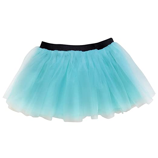 9bbae39b1 Amazon.com: Running Skirt - Teen or Adult Size Princess Costume Ballet Rave  Dance or Race Tutu (Aqua): Clothing