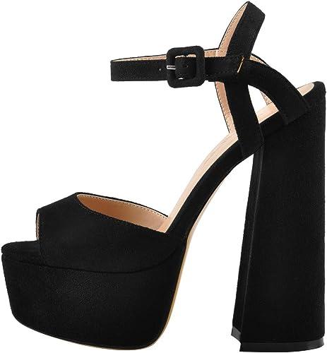 Onlymaker Lady Platform High Heel Slingback Sandals Ankle Strap Cross Band Shoes