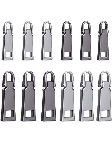 WXJ13 12 cursores de cremallera para maletas y accesorios de cuero, cremallera especial con cursor