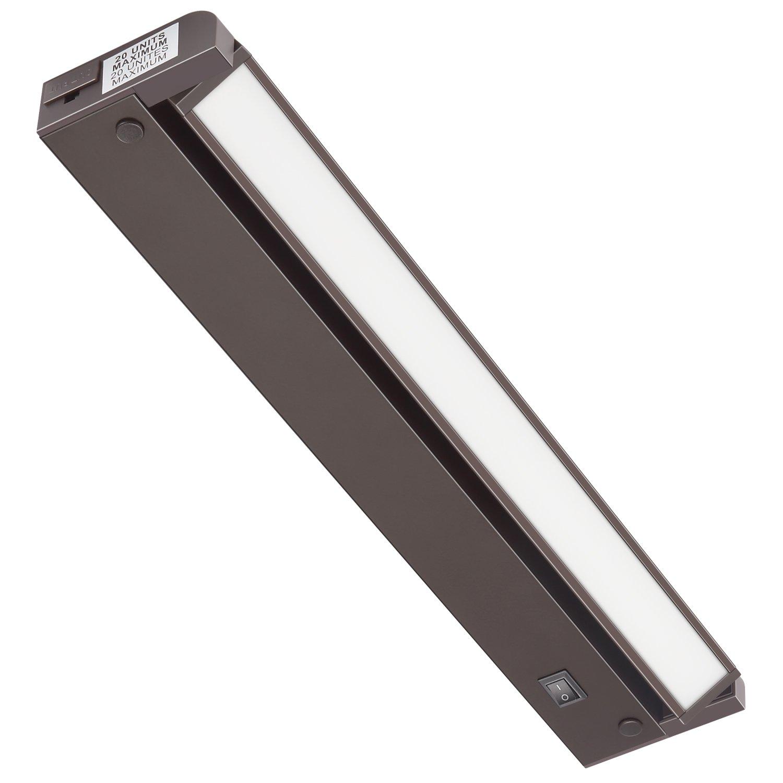 GetInLight Swivel LED Under Cabinet Lighting Fixture, ETL Listed, Ultra Slim Design, Soft White 3000K, Bronze Finished. 12 Inch, IN-0108-2-BZ(2nd Generation)