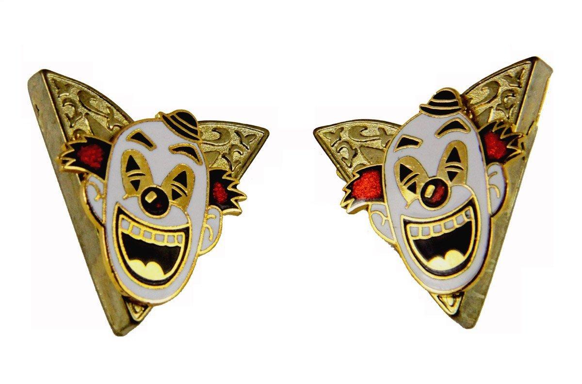 6030633 Set of 2 Shrine Clown Collar Tabs Tips Shriner Hospital Clown Unit