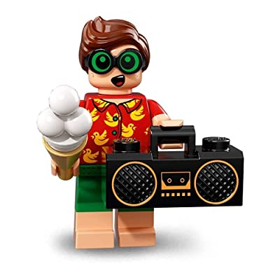 LEGO The Batman Movie Series 2 Collectible Minifigure - VACATION ROBIN (71020): Toys & Games
