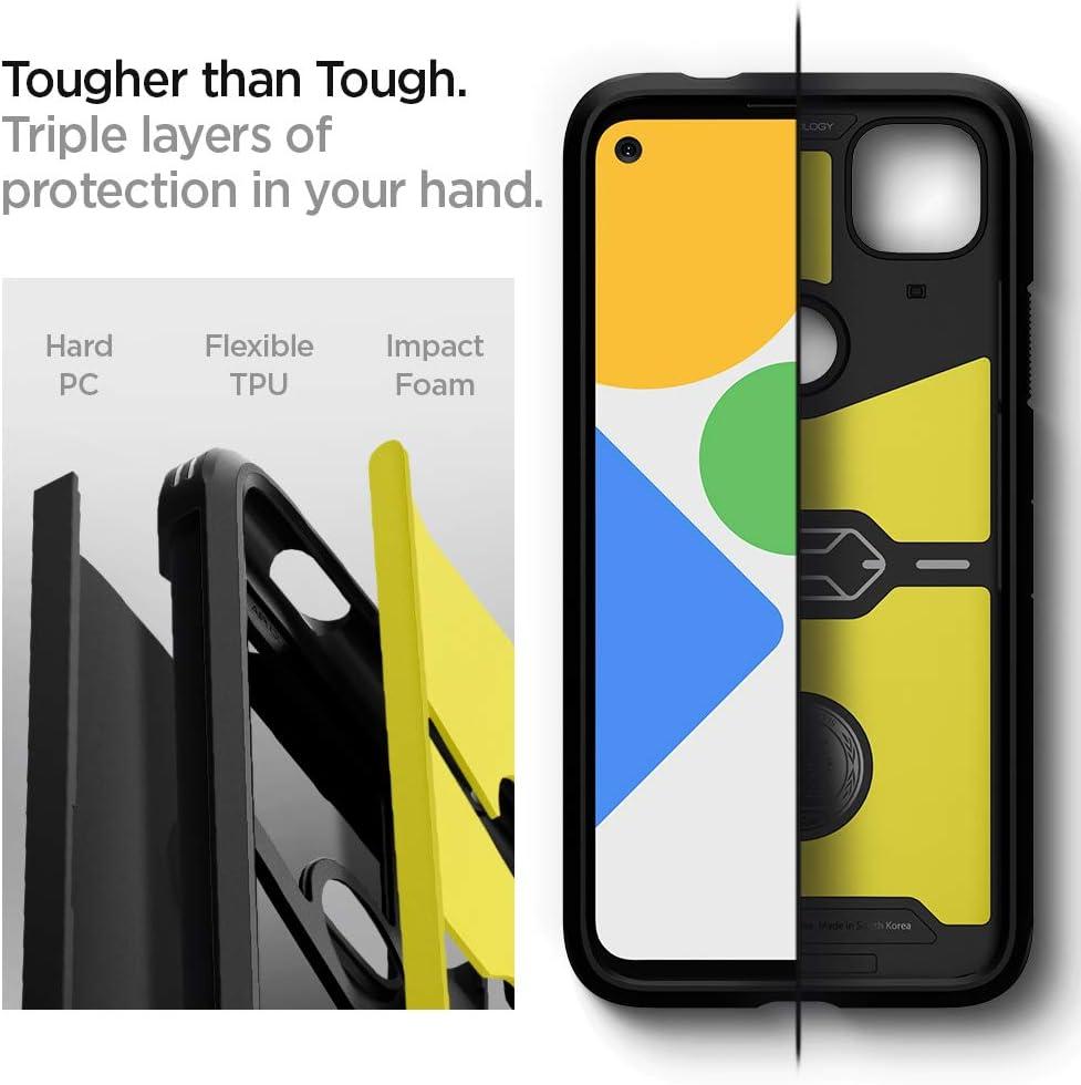 2020 Black Spigen Tough Armor Works with Google Pixel 4a Case