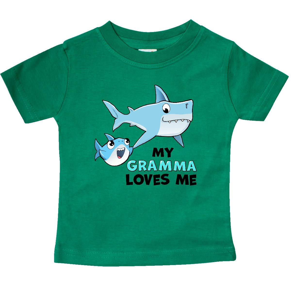 inktastic My Gramma Loves Me with Cute Sharks Baby T-Shirt