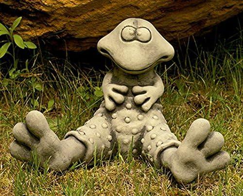 CATART Figura Decorativa Rana en hormigón-Piedra para el jardín Exterior 32X22cm.: Amazon.es: Jardín