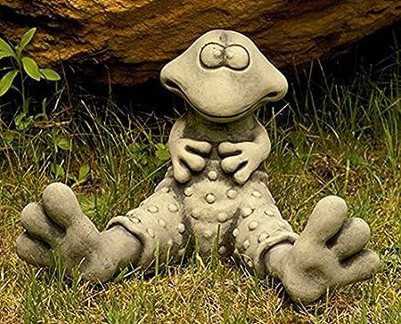 CATART Figura Decorativa Rana en hormigón-Piedra para el jardín ...