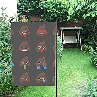 JOCHUAN Decoración para el hogar Big Set Poo Emoticonos Mierda Emoticonos Jardín Flaghouse Patio Jardín de la Yarda Decoraciones del Patio Bienal de Temporada Bandera al Aire Libre 12X18 Pulgadas: Amazon.es: Jardín