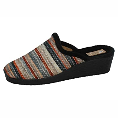 GEMA GARCIA 7400-8 Chinelas para CASA Mujer Zapatillas CASA Negro 41: Amazon.es: Zapatos y complementos