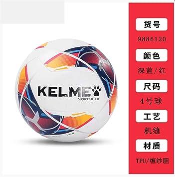 zuq - Balón de fútbol para niños (4 balones de fútbol), Color Azul ...