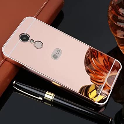 LG X power Mirror Case, Shiny Awesome Make-up Mirror Plated Aluminum Metal Frame Bumper Slim Cover, TAITOU Cool 2 in 1 Ultralight Thin Phone Case for ...