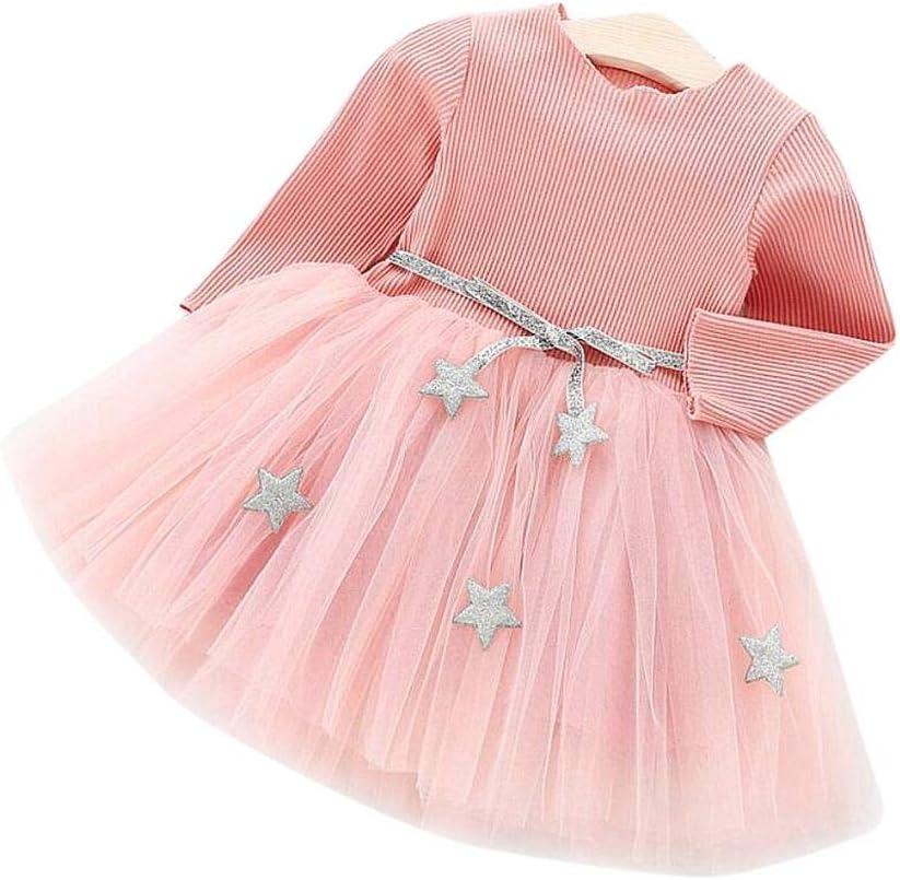 Vestido de tutú de punto con mangas largas para bebés Vestido de ...