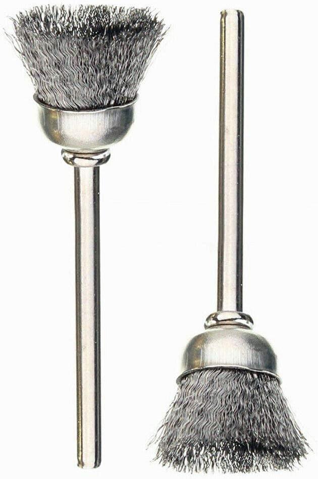 Lot de 36 brosses m/étalliques en acier inoxydable Accessoires de polissage Tige en laiton pour outils rotatifs SENRISE
